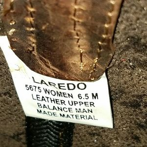 Laredo Shoes - SOLD Laredo Paprika Western Boots Leather Cowgirl